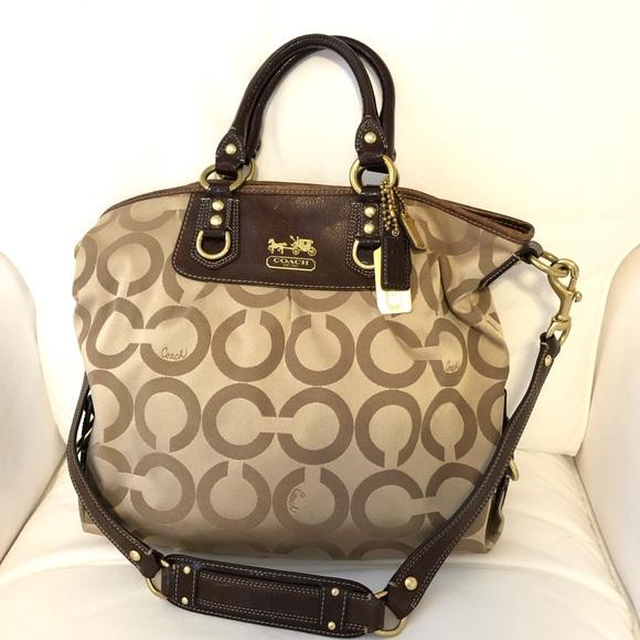 4ccb26de607 Coach Handbags - Coach 12963 Op Art Signature Julianne Tote
